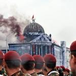 Картавый победобес Шойгу зовёт на реконструкцию штурма рейхстага. Да мы не против, но лучше всё же штурмовать дворцы жидистов Шойгу, Медведева и Путина.(Видео)